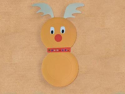 Reno de Navidad. Manualidad reciclada para niños