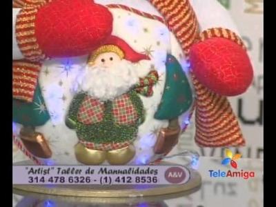 Teleamiga Aprenda y venda Bombonera navideña - Reno navideño en pashwork sin aguja