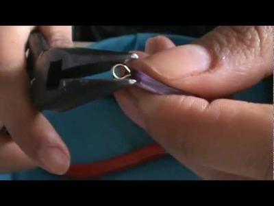 TutoLiz: Aretes con alambre y concha roja