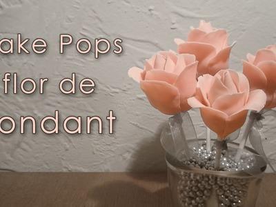 Tutorial cake pops flor de fondant - Postre y centro de mesa.