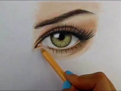 Tutorial: Cómo dibujar ojos con lápices de colores