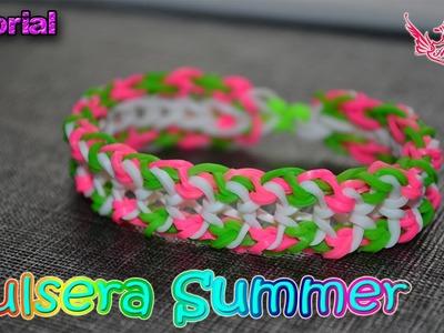♥ Tutorial: Pulsera Summer (sin telar) ♥
