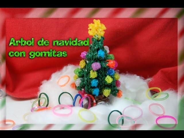 Arbol de Navidad con gomitas. Rainbow loom