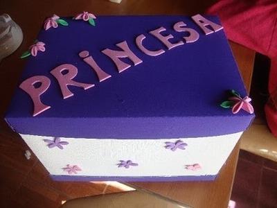Caja para Princesas Paso a Paso. RECICLEMOS