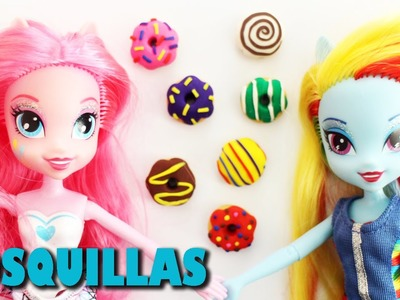 Cómo hacer donas, donuts, berlinas o rosquillas para tus muñecas - Manualidades para  muñecas