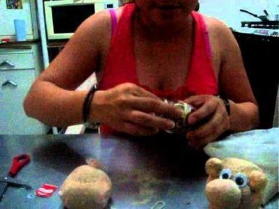 Como hacer puerquito con pelo de pasto o alpiste, para el dia del padre