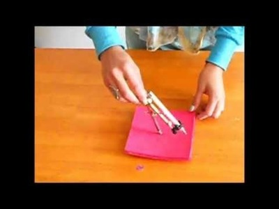 Cómo hacer un disco KUMIHIMO para tejer pulseras 1 de 2 tutorial. Inerya viris