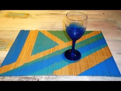 Como pintar con aerosol en individuales y vidrio