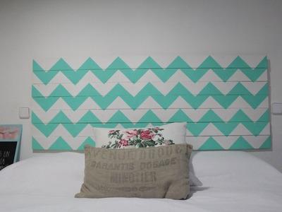 Cómo pintar un cabecero de madera con chevron | facilisimo.com