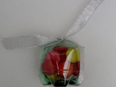 Cómo realizar una caja de regalo, bombonera o dulcera con botellas de plástico - Plastic bottle box