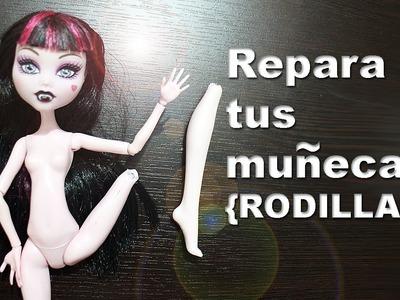 Cómo restaurar o reparar las [RODILLAS] articulaciones de tus muñecas Barbie, Monster High y EAH