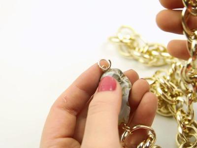 DIY Collar con Cadena y Piedra Semipreciosa