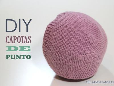 DIY Como hacer capotas de punto para bebés modelo 1 (patrón gratis)