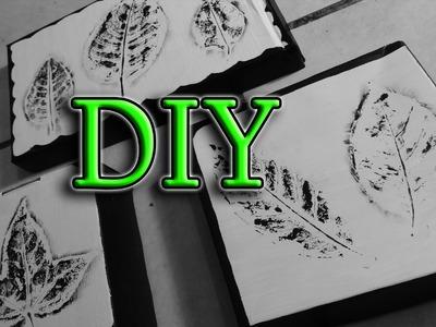 DIY ✄ CUADROS DECORATIVOS CON HOJAS DE ÁRBOL (RECICLANDO)