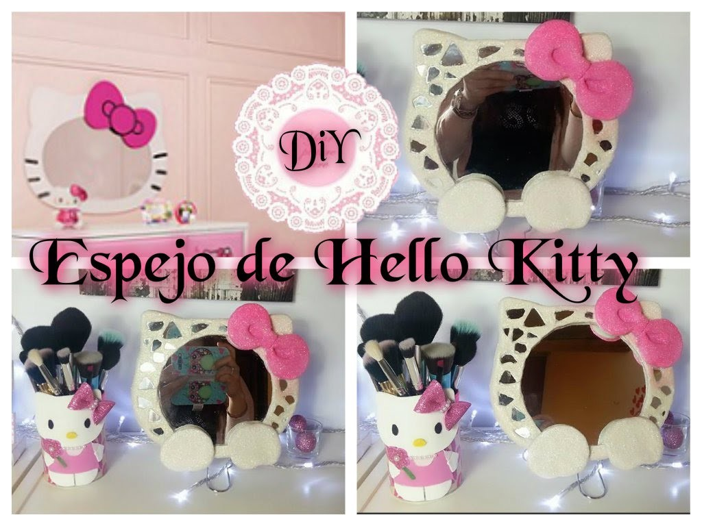 DIY ESPEJO DE LA HELLO KITTY FACIL