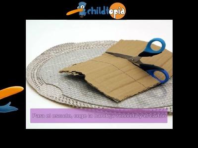 Escudo y espada. Manualidades infantiles, manualidades con cartón