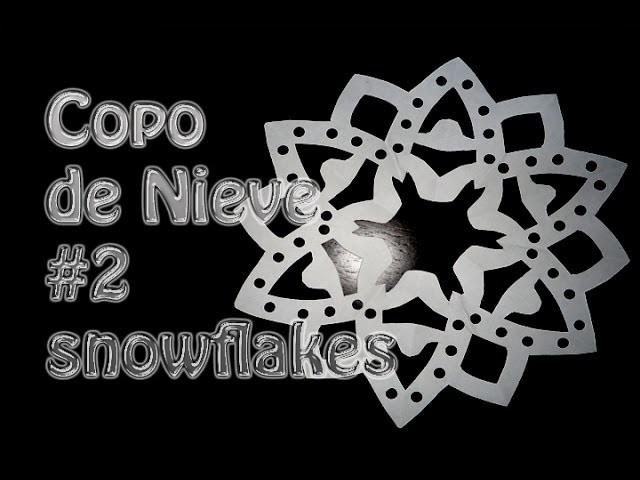 Kirigami como hacer un copo de Nieve de papel # 2--snowflakes --DIY
