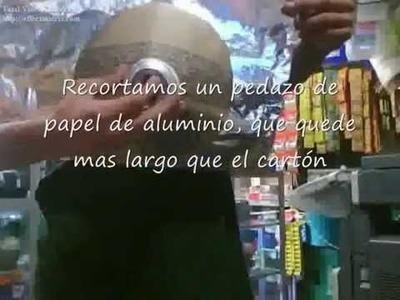 """PARABOLICA SUPERCASERA CON MATERIALES CASEROS DE VERDAD """"AUMENTAR MAYOR RECEPCION DE WIFI"""""""
