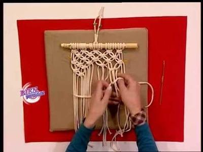 Patricia Belvedere - Bienvenidas TV - Hace portamacetas con técnica en macramé.