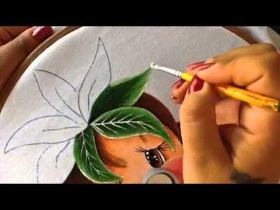 Pintura en tela niña piña # 3 con cony