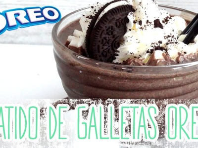 Receta: Batido de galletas Oreo -- Milkshake Oreo