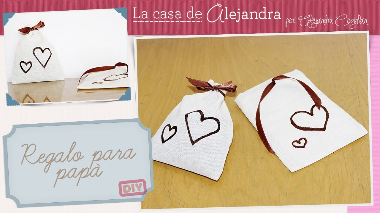 Regalo del día del padre - DIY Father's day giftbag