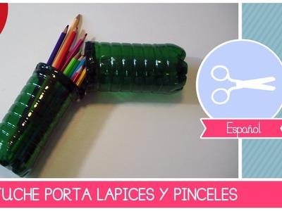 Tutorial como hacer un Estuche Porta Lápices reciclando botellas de plastico - Reciclaje Creativo