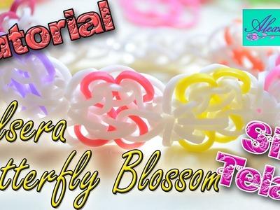 ♥ Tutorial: Pulsera Butterfly Blossom de gomitas (sin telar) ♥