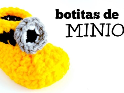 Botas de Minion a Crochet para Bebés