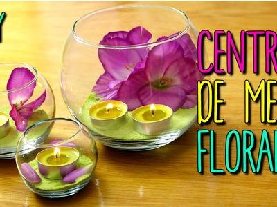 Centros de Mesa con Flores y Velas - Decoración Fácil DIY - en 5 Minutos