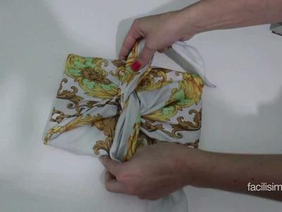 Cómo envolver un libro con un pañuelo | facilisimo.com
