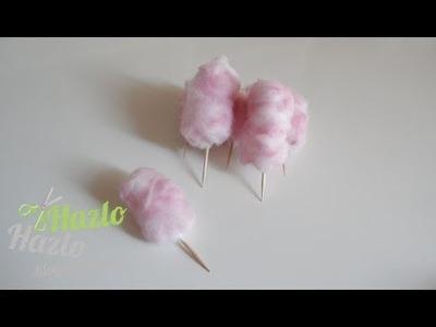 Cómo hacer algodón de azúcar para decorar.
