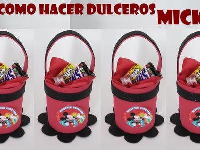 COMO HACER DULCERO DE FOAMI DE MICKEY MOUSE