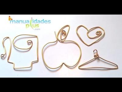 Cómo hacer Figuras con Alambre : Perchas con alambre