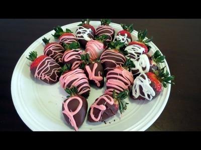 Como hacer fresas cubiertas de chocolate?