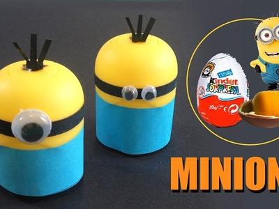 Como hacer Minions con huevo kinder | Manualidades con niños