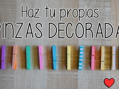 Cómo hacer PINZAS DECORADAS   DIY