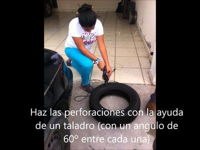 Como hacer una silla con neumáticos viejos