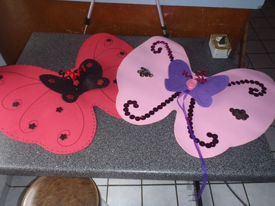 Disfraz como hacer alas de Mariposa o hada con fomy. foami.goma eva