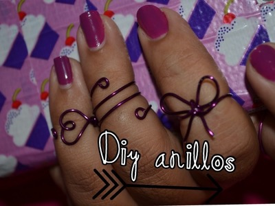 Diy- como hacer anillos. Diy easy to do wire rin