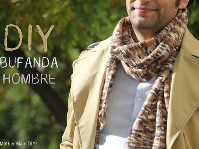 DIY Cómo tejer una bufanda de hombre