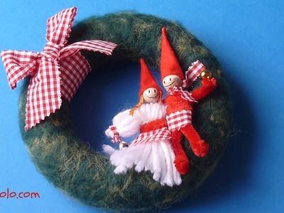 DIY Corona de Navidad, Christmas Wreath