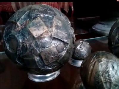 DIY Esferas.Bolas imitación cobre . Faux copper balls