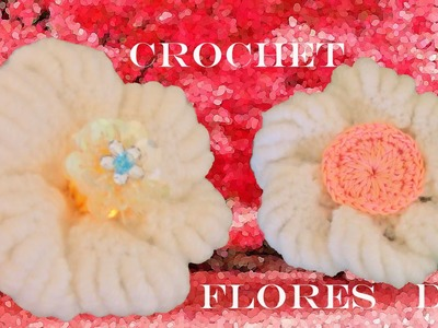 DIY flores blancas hermosas a crochet - white flowers to crochet