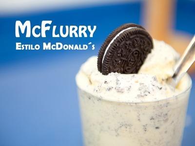 Helado McFlurry de M&Ms o Oreos estilo McDonalds