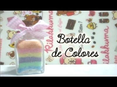 Manualidades Al azar #1 Botella de Sales de Colores (Regalo + Original) ♥