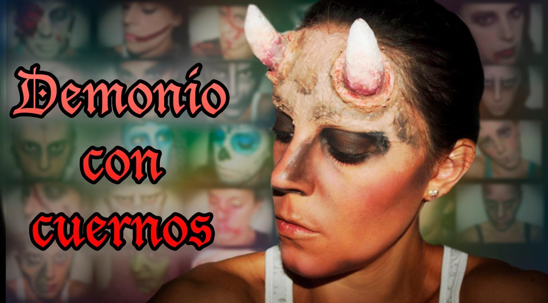 Maquillaje Halloween Demonio con cuernos Makeup FX #10 | Silvia Quiros