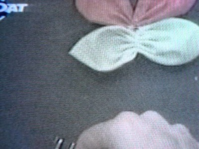 Mariposa de tela y florecitas del juego de baño   del 21 07 11  204