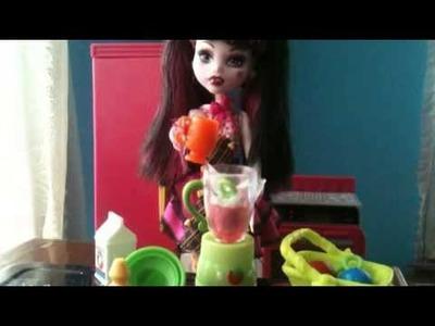 Monster High Cocina loca con draculaura !