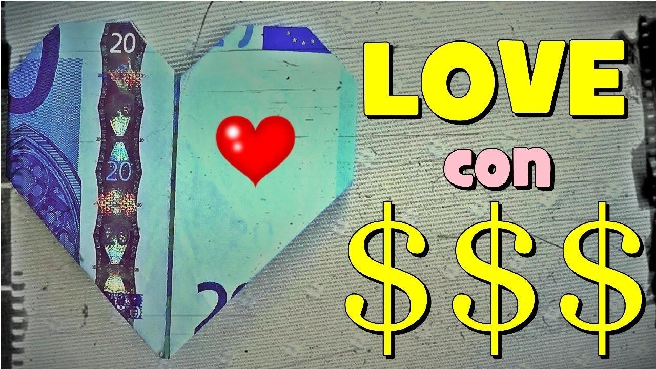 Origami $$$ - Corazón de Papel con un Billete